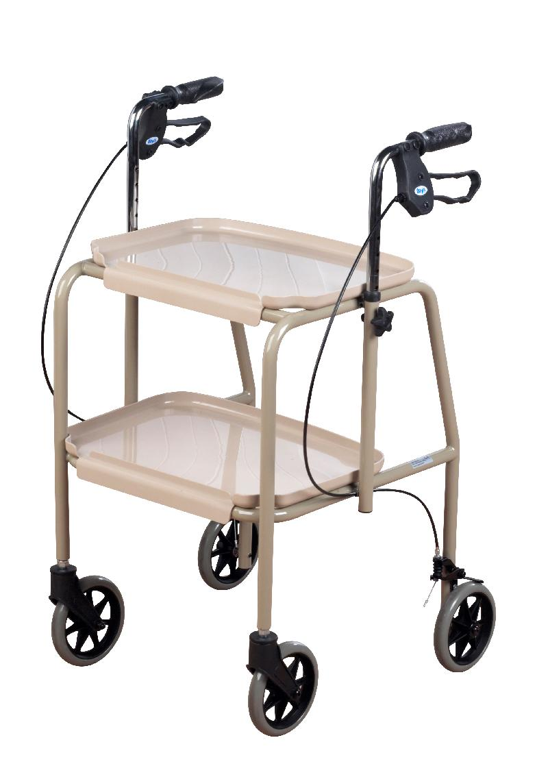 Adjustable Height Trolley Mobility Walker