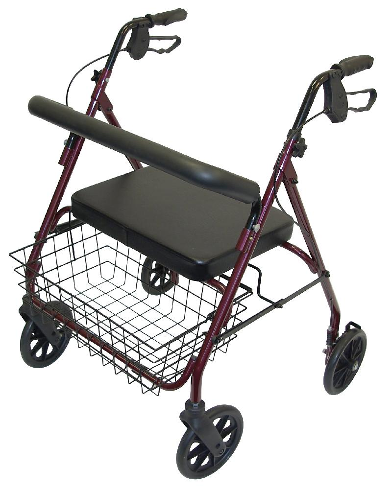 Bariatric Heavy Duty Mobility Walker (Red)