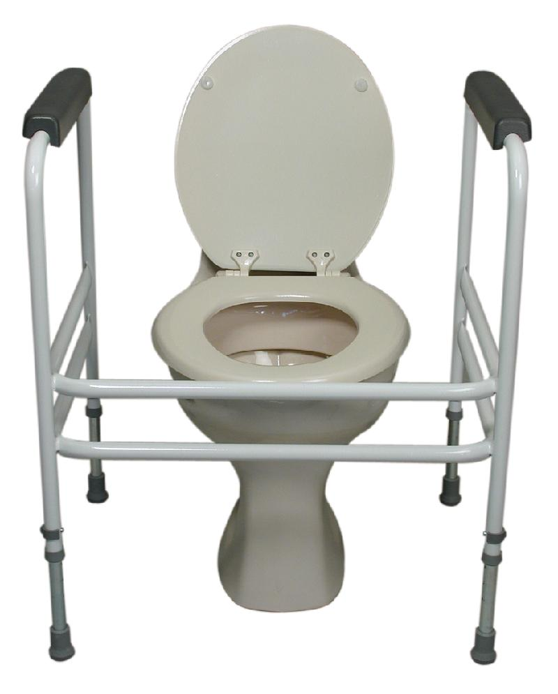 Extra  wide adjustable height toilet surround