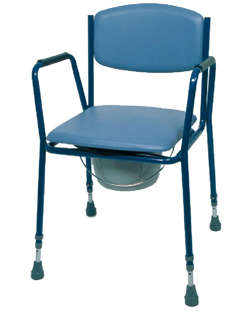 Adjustable Height Stacking Commode