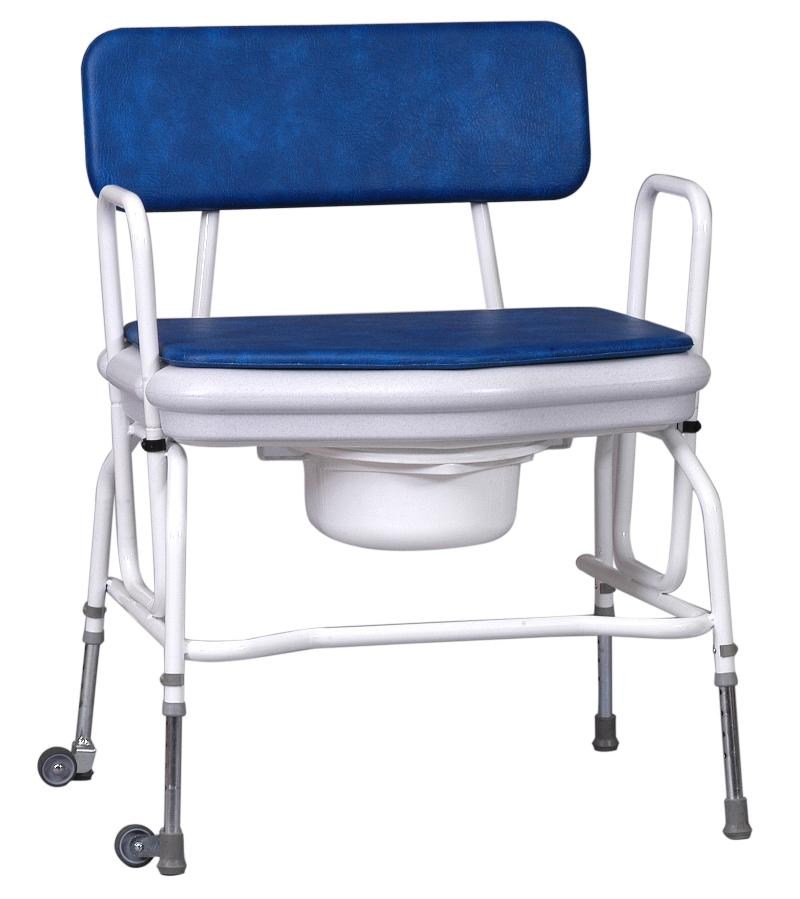 Heavy Duty Adjustable Height Commode Chair with Detachable Armrests