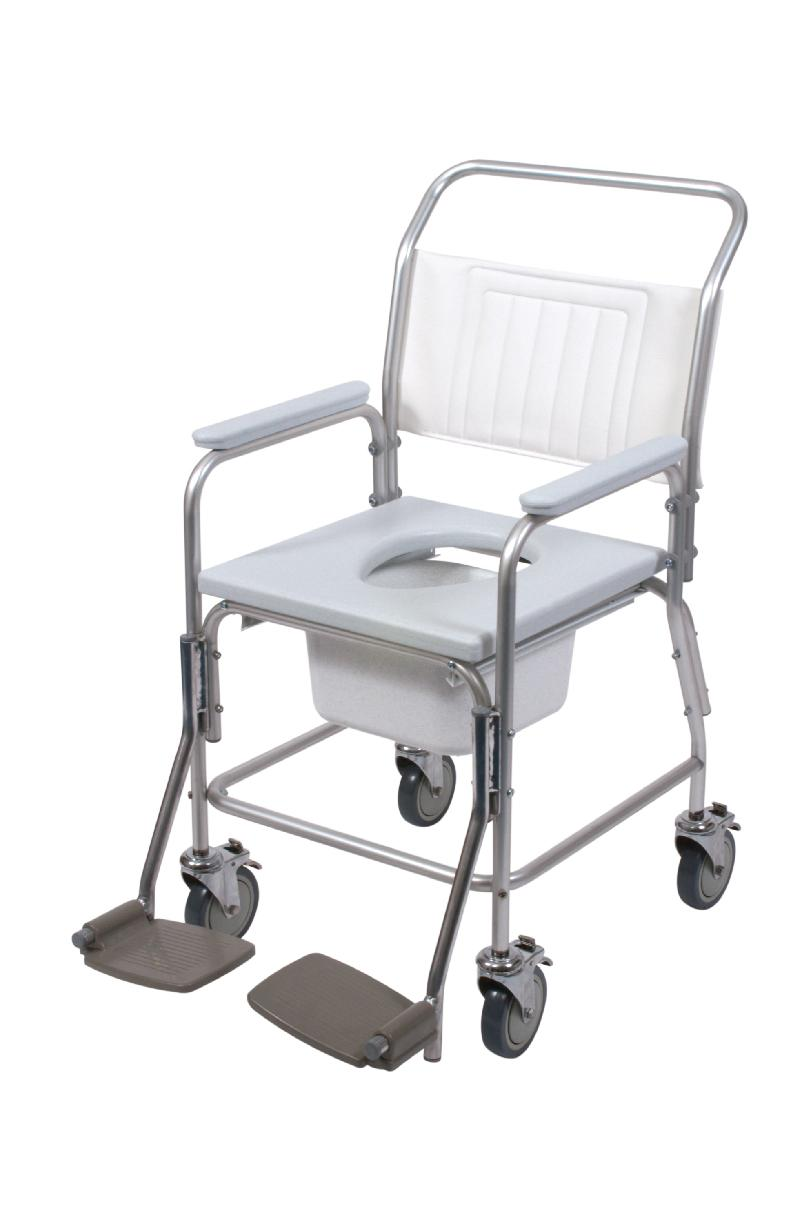 Aluminium commode and shower chair