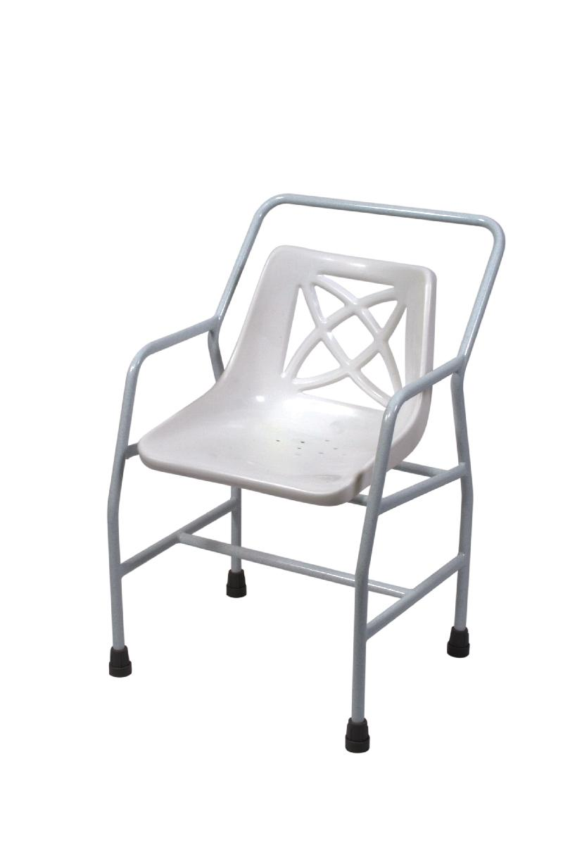 Heavy duty stationary shower chair
