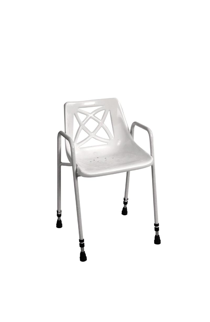 Adjustable height shower seat