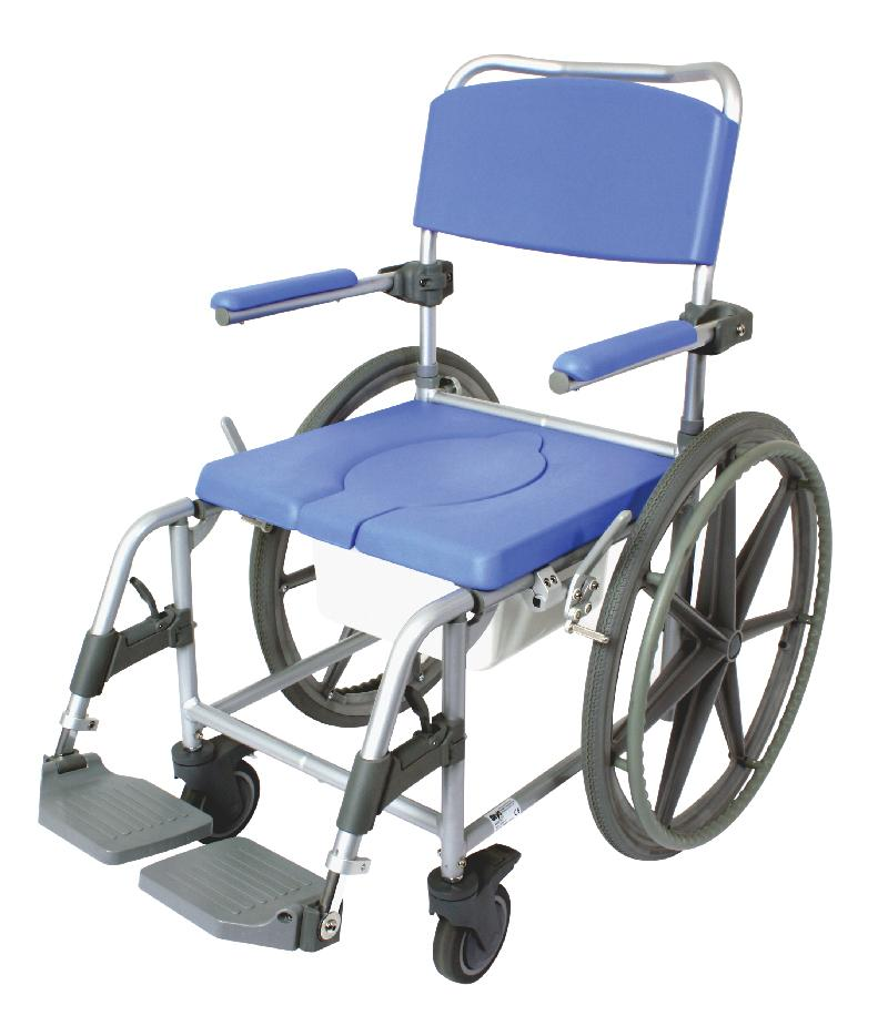 Heavy Duty Self propelling commode & shower chair