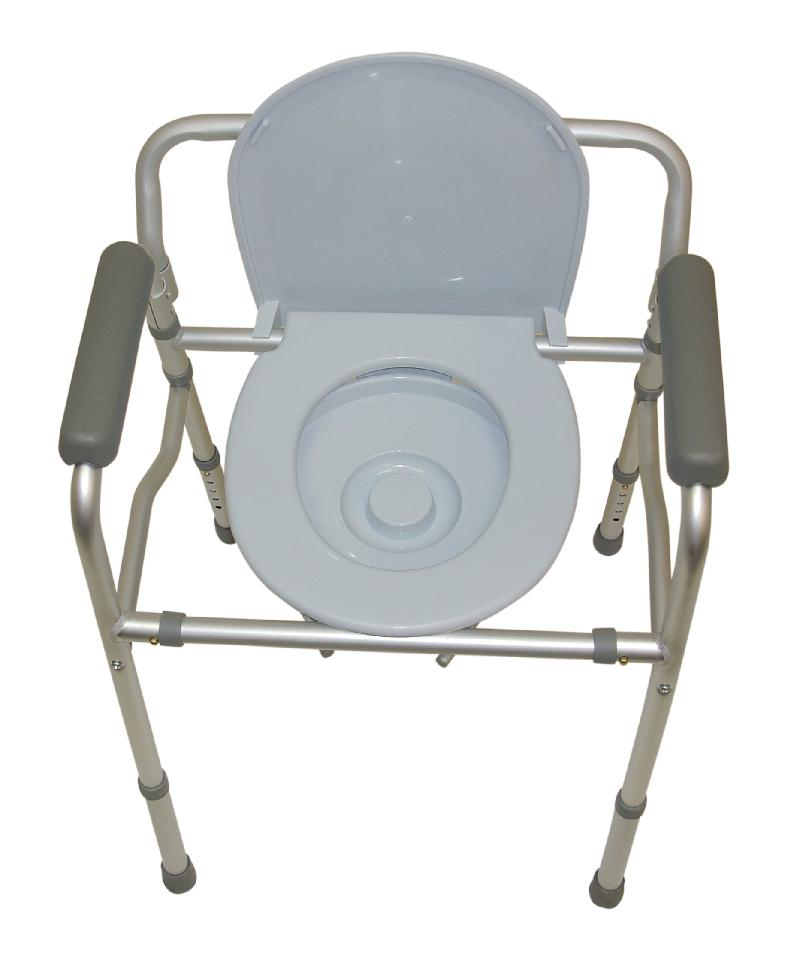Folding Commode Chair and Toilet Surround