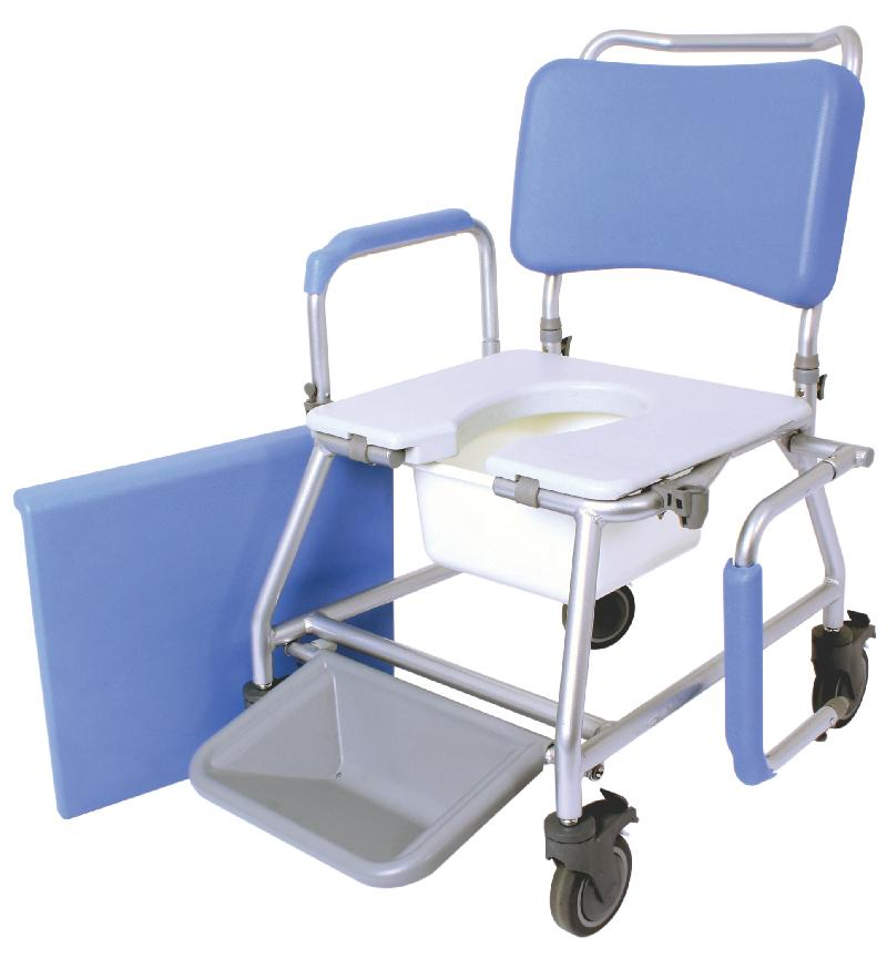 "18"" Atlantic Mobile Commode & Shower Chair"