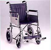 Transit Wheelchair with Detachable Armrests and Footrests, and Folding Back