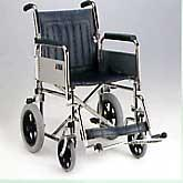 Narrow Transit Wheelchair with Folding-Back