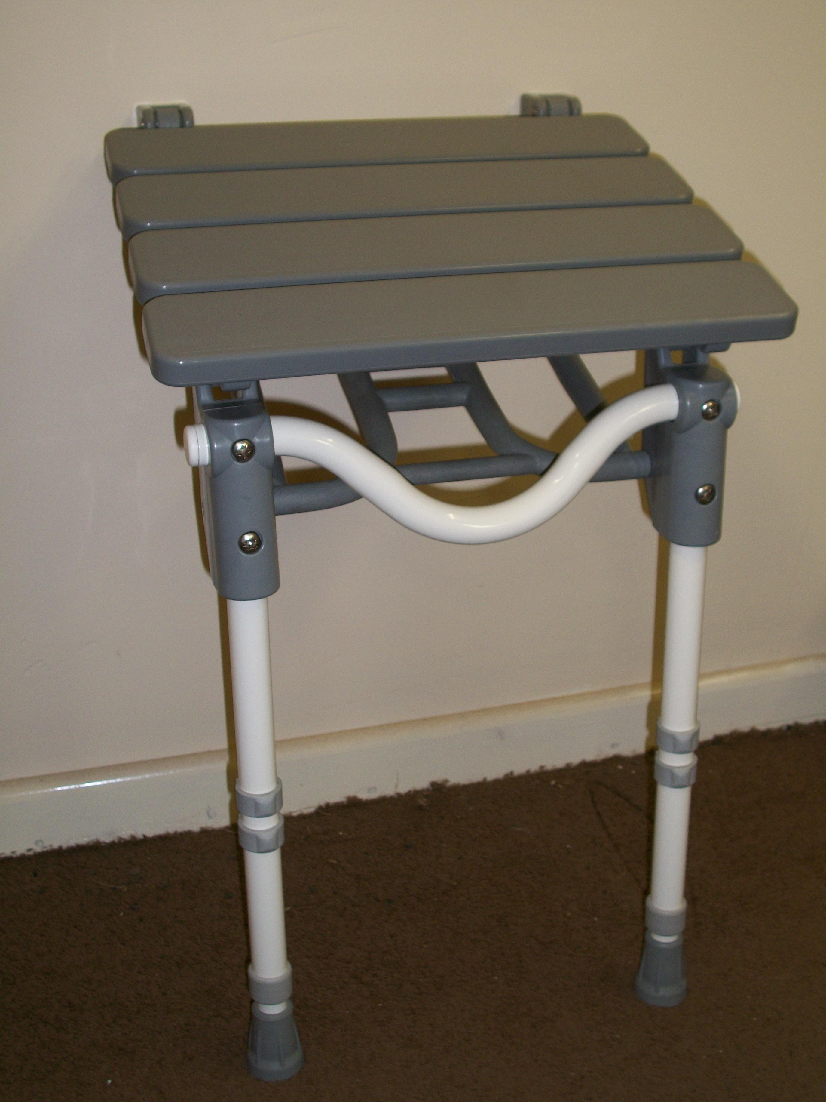Folding Shower Seat - Slatted